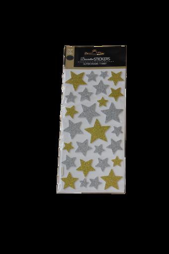 صورة ستيكر لاصق - نجوم ذهبية وفضية