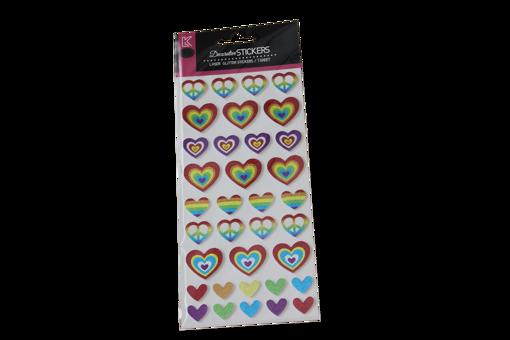صورة ستيكر لاصق - قلوب ملونة